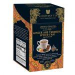Wissotzky Tea Signature Collection, Artisan Chai Tea, Ginger and Turmeric Spiced Chai, 16 Pyramid Tea Bags